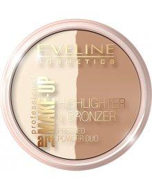 Eveline Art. Professional Make-up puder rozświetlający i bronzer nr 57 Glam Dark 12g