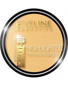 Eveline Art Professional Make Up puder rozświetlający prasowany nr 55 Golden 14g
