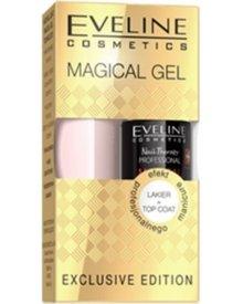 Eveline Magical Gel zestaw prezentowy lakier do paznokci + Top Coat 1kpl.