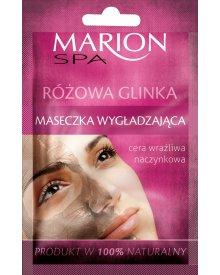 Marion Spa maseczka do twarzy wygładzająca Różowa Glinka 8g