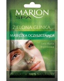 Marion Spa maseczka do twarzy oczyszczająca Zielona Glinka 8g