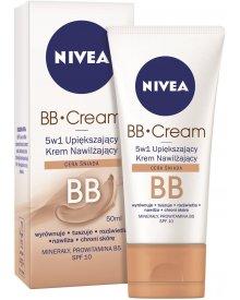 NIVEA BB Cream 5w1 Upiększający krem nawilżający cera śniada 50 ml