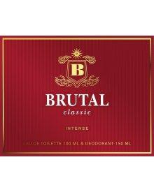 Brutal Classic zestaw woda toaletowa 100ml+dezodorant 150ml