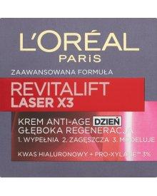 L'Oreal Paris Revitalift Laser X3 Krem przeciwzmarszczkowy Anti-Age głęboka regeneracja dzień 50 ml