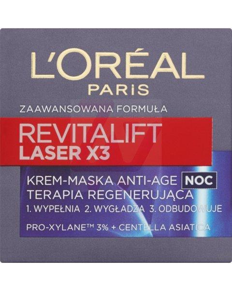 L'Oréal Paris Revitalift Laser X3 Noc Zaawansowana formuła Anti-Age Krem-maska 50 ml
