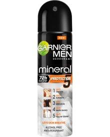 Garnier Men Mineral Protection 5 Antyperspirant w sprayu bez alkoholu 150 ml