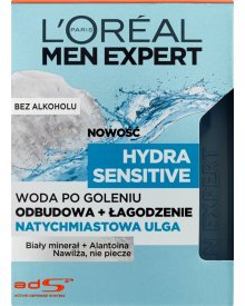 L'Oréal Paris Men Expert Hydra Sensitive Woda po goleniu natychmiastowa ulga 100 ml