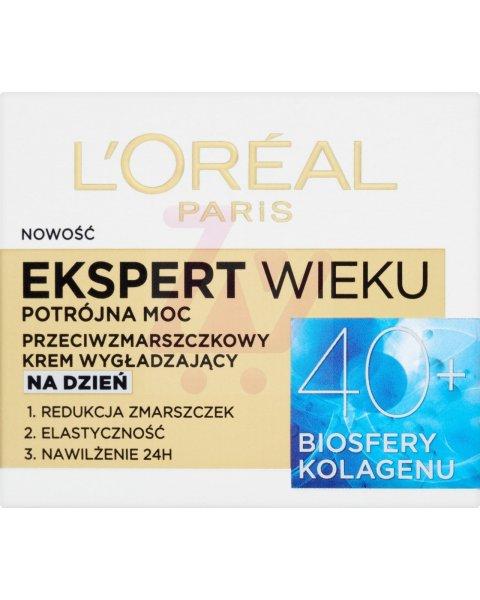 L'Oreal Paris Ekspert Wieku 40+ Przeciwzmarszczkowy krem wygładzający na dzień 50 ml