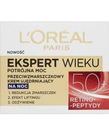 L'Oréal Paris Ekspert Wieku 50+ Przeciwzmarszczkowy krem ujędrniający na noc 50 ml