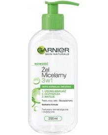 Garnier Skin Naturals Żel Micelarny 3w1 Skóra Normalna i Mieszana 200ml