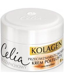 Celia Kolagen Przeciwzmarszczkowy krem półtłusty z kozim mlekiem na dzień i noc 50 ml