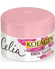 Celia Kolagen Przeciwzmarszczkowy krem tłusty z witaminami A i E na dzień i noc 50 ml