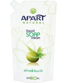 Apart Natural Prebiotic Kremowe mydło w płynie oliwka i buriti Zapas 400 ml